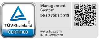 Privy Certification and Acknowledgement: TUV Rheinland