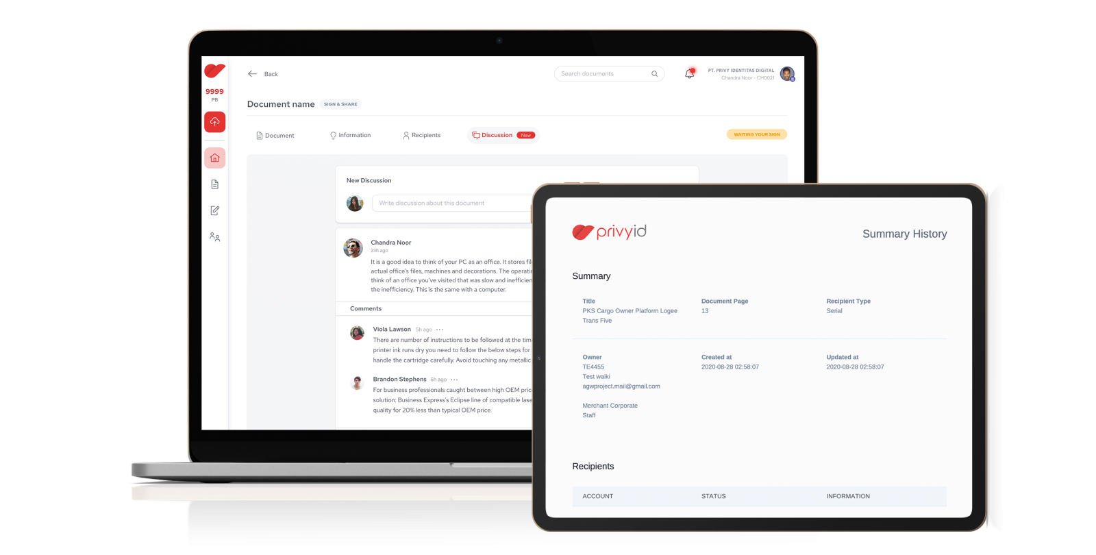 PrivyID Enterprise Suite Feature: Tracking and Managing Documents